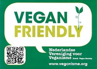 raamsticker Vegan Friendly
