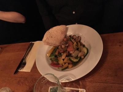 groene curry met wrap